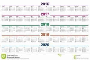 Jahreskalender 2018 2019 : kalender 2016 2017 2018 2019 2020 vektor abbildung ~ Jslefanu.com Haus und Dekorationen