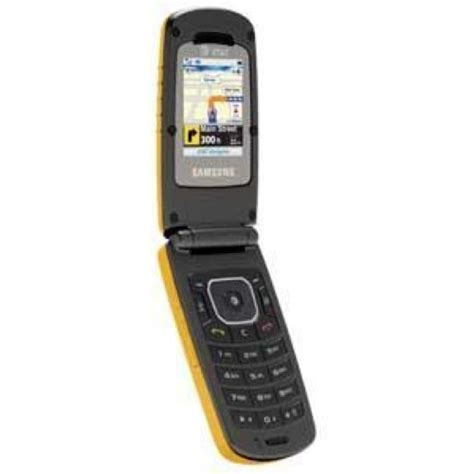 att flip phone samsung rugby sgh a837 at t yellow ptt flip phone ebay