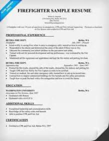 Resume For Firefighter Emt by Tips To Write Firefighter Resume