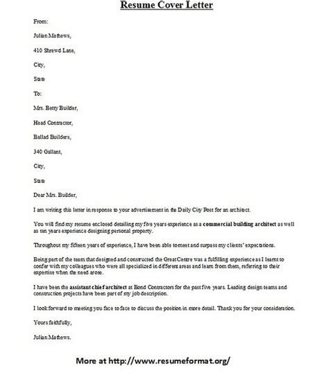 what to say in email with cover letter and resume