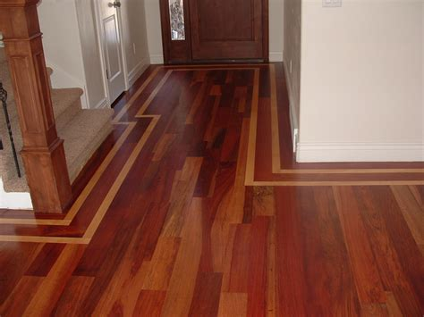wade homes custom hardwood flooring cherry with a walnut border