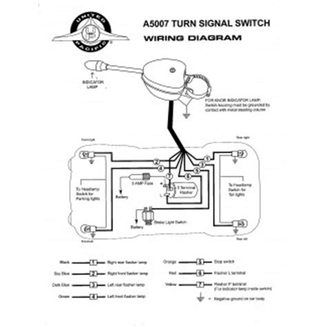 United Pacific Turn Signal Wiring Diagram chrome plated turn signal switch united pacific