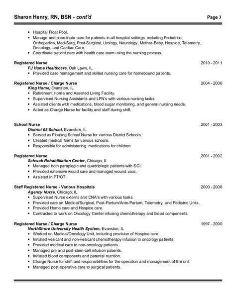 14593 med surg nursing resume pacu registered resume