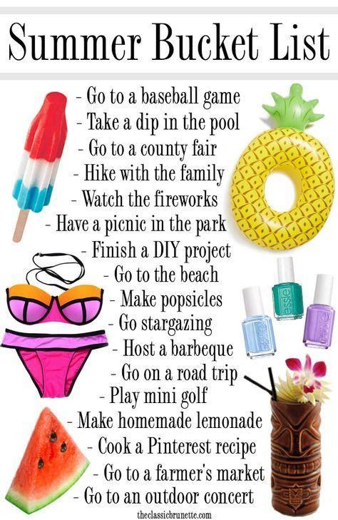 best 10 summer lists ideas on summer