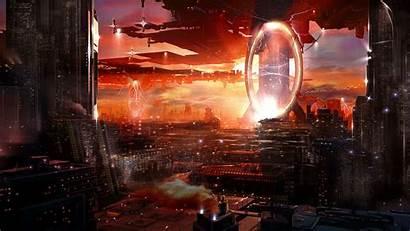 Epic Sci Fi Futuristic Cities Portal Wallpapers