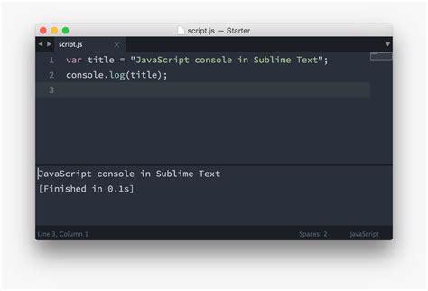 console js javascript console in sublime text pawelgrzybek