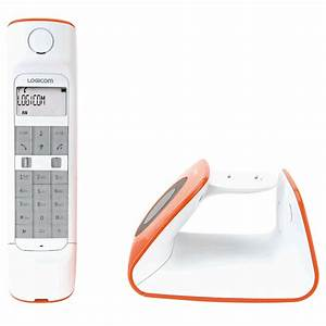 Telephone Sans Fil Vintage : logicom r tro orange t l phone sans fil logicom sur ldlc ~ Teatrodelosmanantiales.com Idées de Décoration