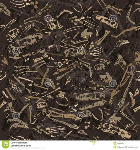 seamless dinosaur bones pattern stock vector image
