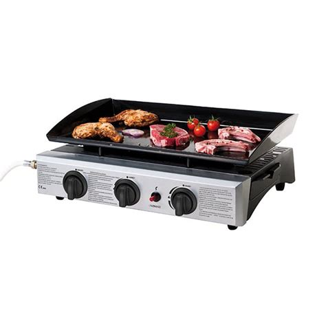 cuisine à la plancha gaz plancha gaz premium 3 brûleurs grills électriques