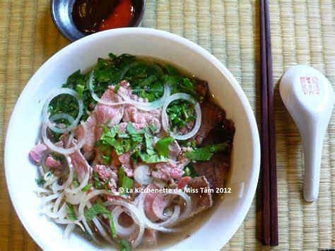 cuisine viet phở bò soupe pho au boeuf recette et