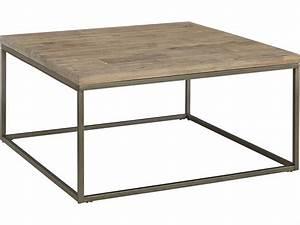 Casana Alana Weathered Acacia 36'' Square Coffee Table ...