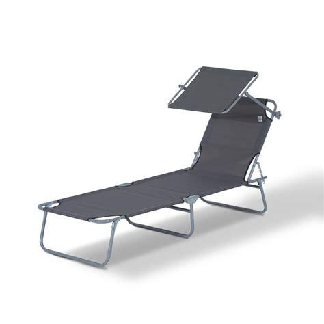 chaise longue avec pare soleil outsunny chaise longue pliante transat bain de soleil