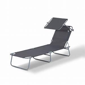 Chaise Longue Bain De Soleil : outsunny chaise longue pliante transat bain de soleil ~ Dailycaller-alerts.com Idées de Décoration