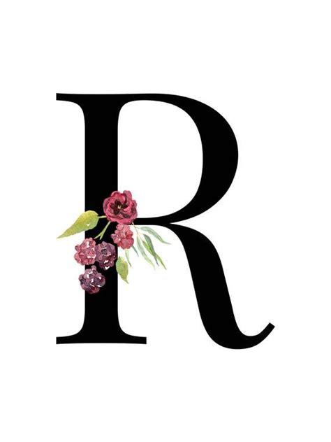 letter  floral alphabet instant digital  monogram printable letters etsy nursery