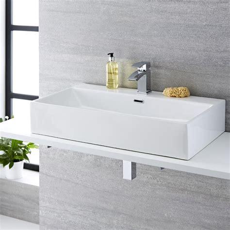 rubinetto per lavabo da appoggio lavabo bagno da appoggio sospeso in ceramica rettangolare