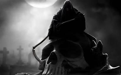 Reaper Grim Blood Scythe Creature Grave Skull