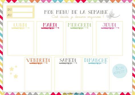 Rapide, facile et pas cher ! Mommy-Dream.com | Planning menu semaine, Planning vierge ...