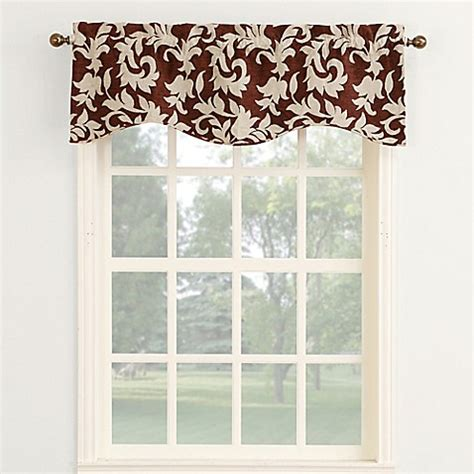 Inch Valance by Legacy Woven Chenille 18 Inch Curved Window Valance Bed
