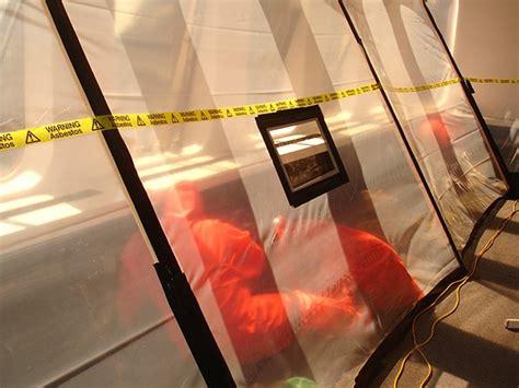 asbestos removal internal tents