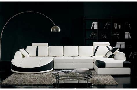 canapé noir et blanc but canape angle cuir noir blanc