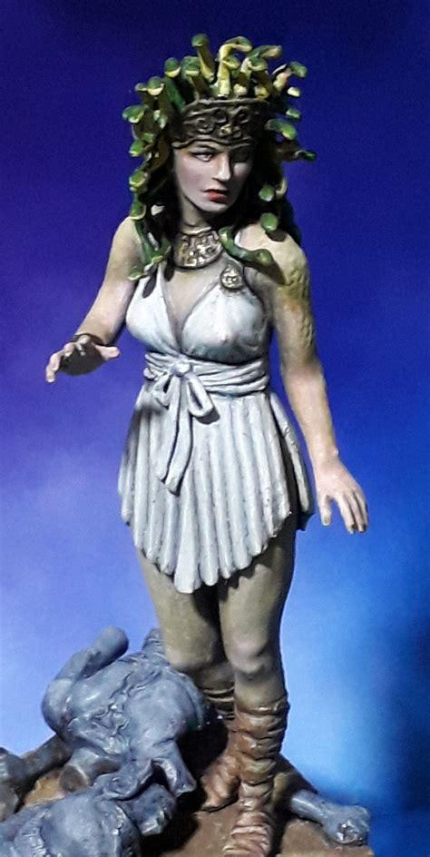 medusa athena monster temple puttyandpaint she