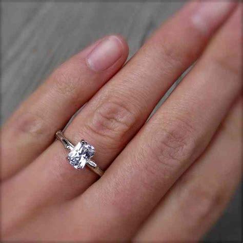 carat emerald cut diamond engagement ring wedding