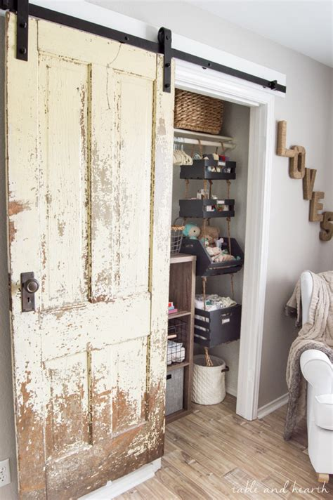 installing a barn door how to install a vintage farmhouse barn door table and