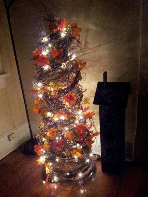 tomato cage fall tree craft projects   fan