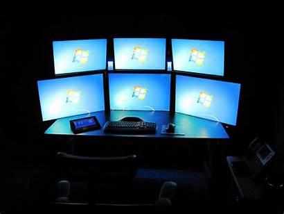Computer Office Monitors Workstation Developer Popular Desk