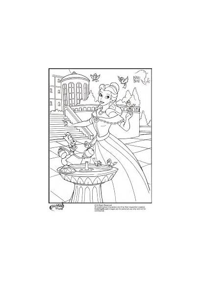 Coloring Disney Pages Belle Princess Beast Beauty