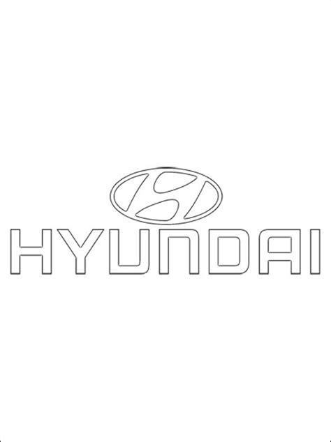 coloring page hyundai logo coloring pages