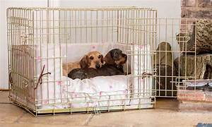 Bumper and cushion set in taupe multi spot from lords for Best dog crates for puppies
