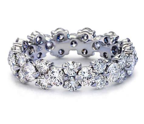 5 00ct round cut diamond full eternity ring 14k white gold