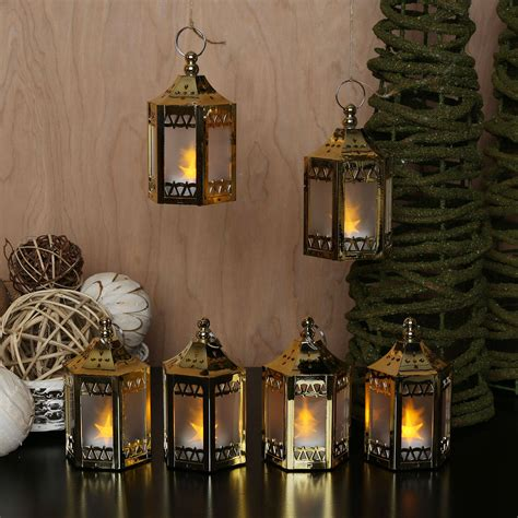 mini lantern lights lights flameless candles lanterns anthea gold