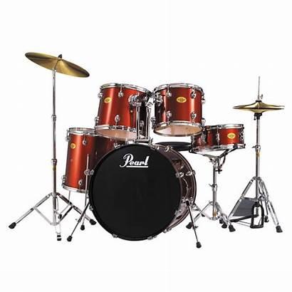 Drum Pearl Kit Acoustic Target Ex Wine