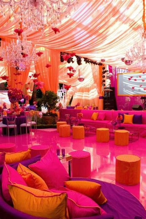 purple pink and orange wedding theme colours fuschia purple orange the