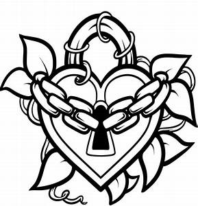 Heart Lock And Key Coloring Pages Sketch Coloring Page