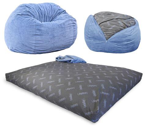 cordaroy s chenille beanbag chair full sleeper ebay