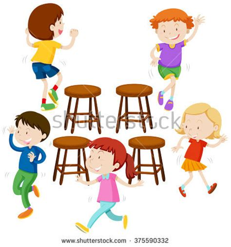 chaise musical musical chairs clipart 44
