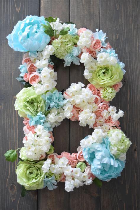 nursery floral letter nursery flower letter large flower letter large flower letter diy