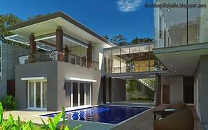 Desain, Architect, Tropical, Minimalist, House, Models