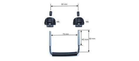 fixation pour coffre de toit fixation u 75mm ultra plast