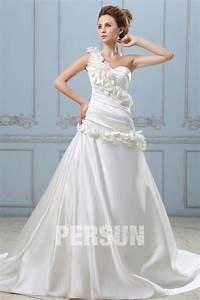 Robe De Mariée Moderne : robe de mari e moderne en satin ligne a d collet en c ur ~ Melissatoandfro.com Idées de Décoration