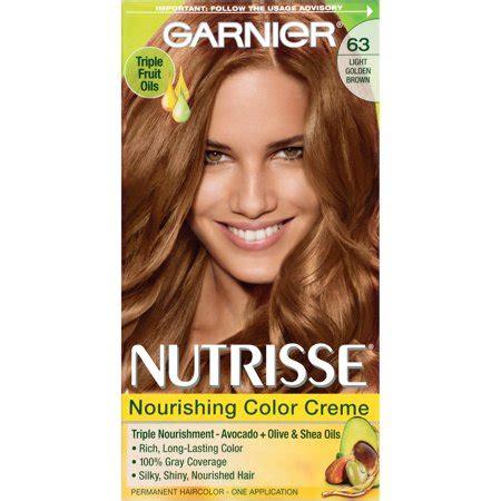 garnier light golden brown garnier nutrisse nourishing color creme hair color 63