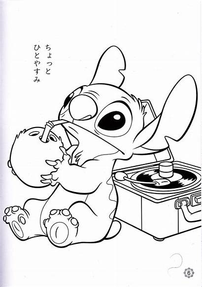Disney Coloring Pages Stitch Walt Characters Fanpop