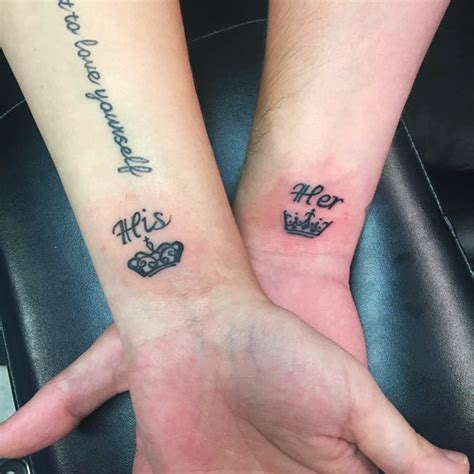 his and hers designs 30 matching his and hers tattoos