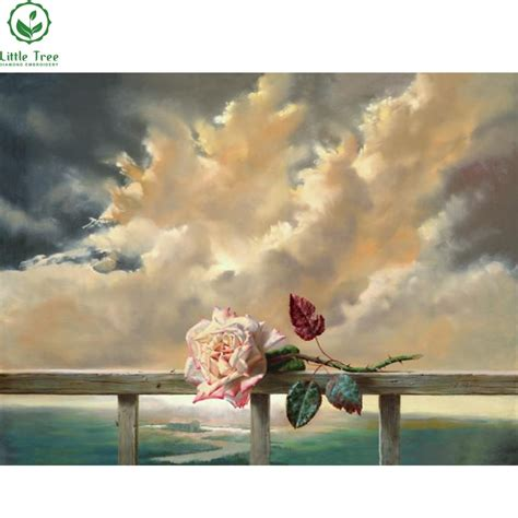 Hot New Products For 2017 Flower & Cloud Oil Painting
