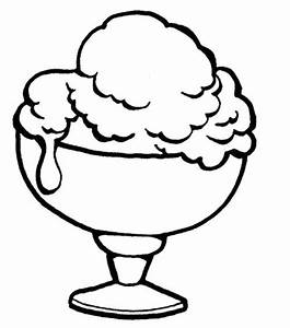 Bowl Of Ice Cream Clipart Black And White - ClipartXtras