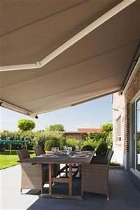 garten markise sonnenschutz sonnenschirm With markise balkon mit schöner wohnen tapete grün