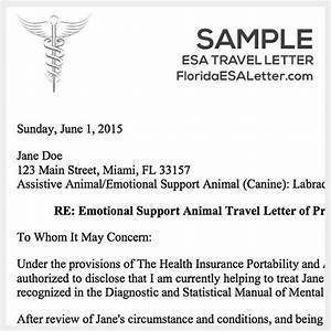 gallery of esa travel letter With emotional support dog sample letter air travel